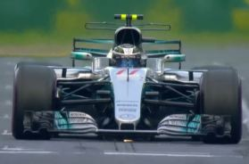Bottas on track flying lap