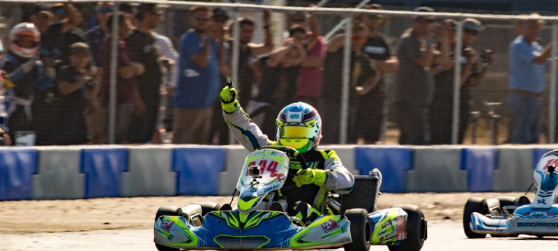 Dante Yu scored the victory in IAME X30 Senior (Photo Tony Leone)