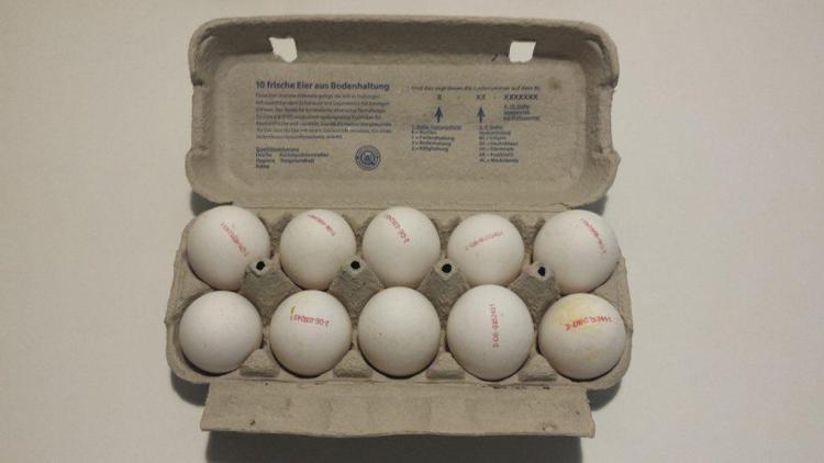 cartones de huevos en alemania