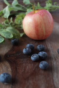 Apfel Heidelbeeren