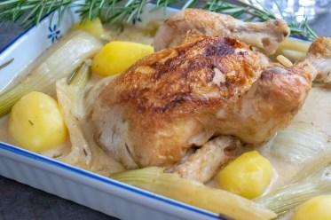 Hühnchen Geschmort Pernod Rezept Ofen