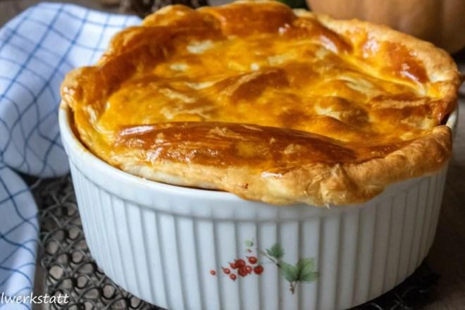 Butternus-Kartoffel-Pie mit Rindfleisch
