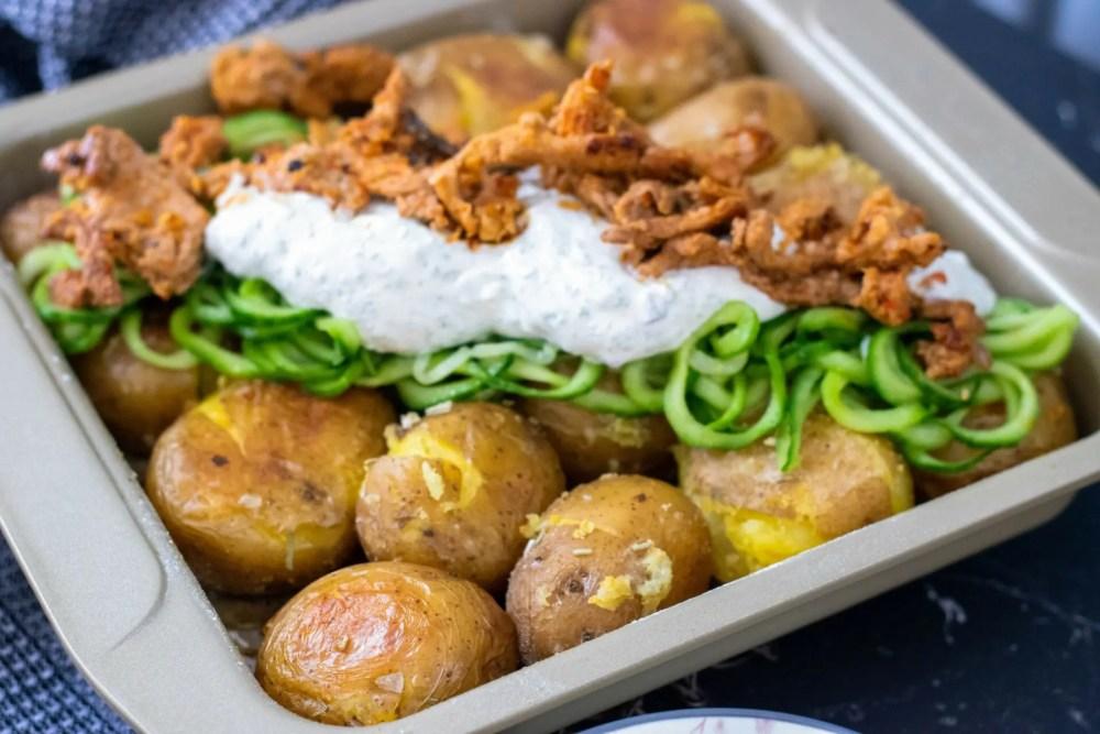Röstkartoffeln mit Gyros