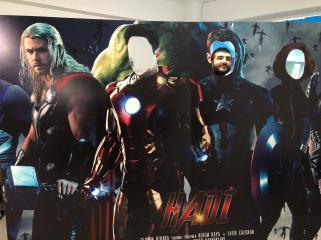 Süper kahramanlar ayaklı pano