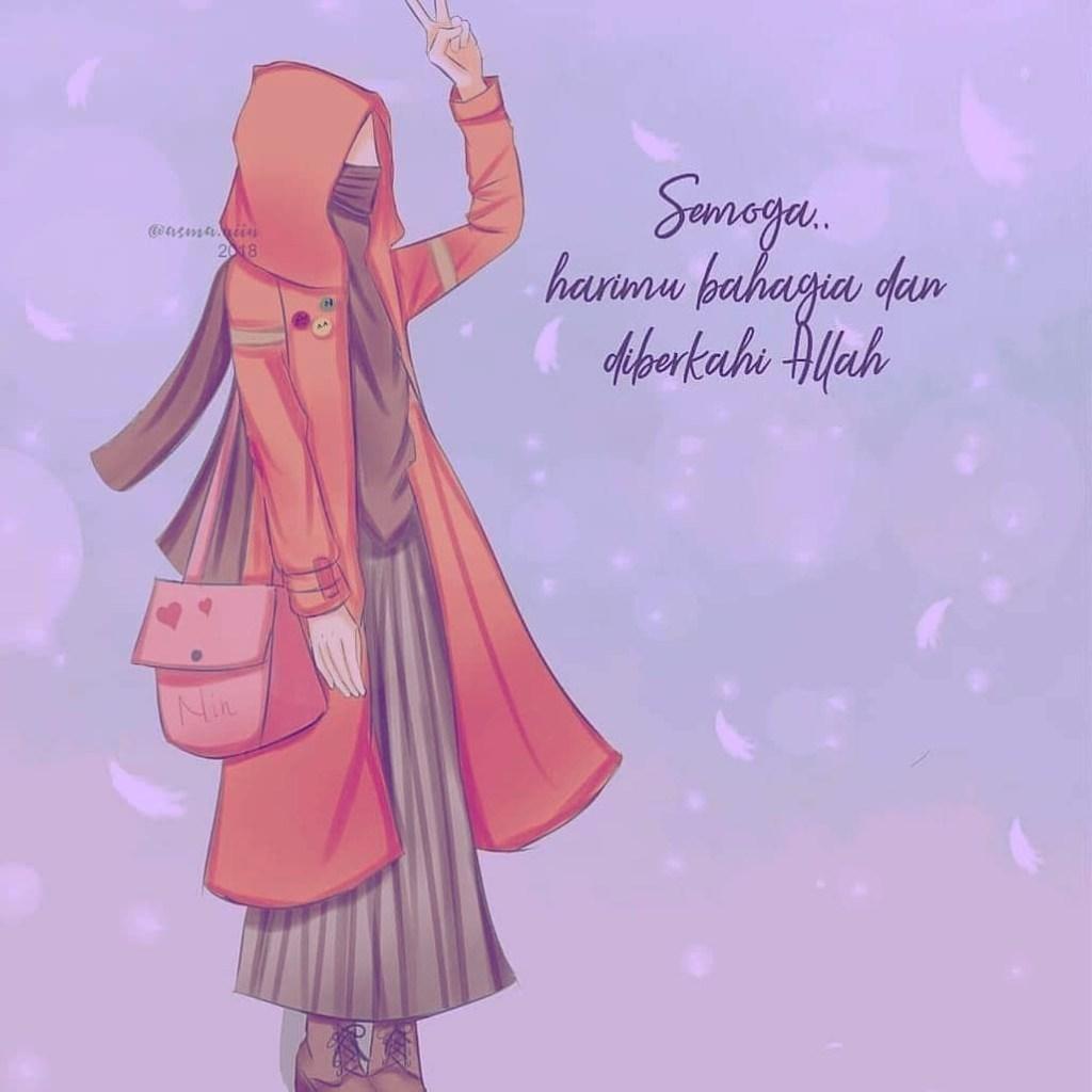 55 Anime Gambar Kartun Muslimah Lucu Cantik Dan Imut Terbaru Kumpulan Gambar Lucu Terbaru