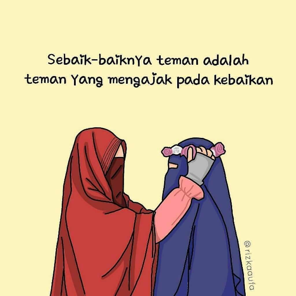 Gambar Kartun Muslimah Bercadar Dakwah