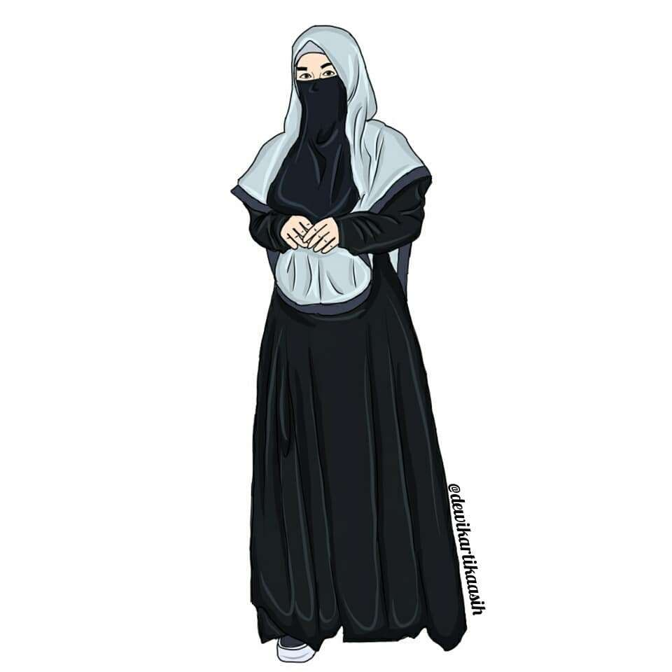 Gambar Hijab Keren Animasi Jilbab Voal