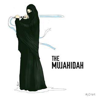 Gambar Kartun Muslimah Bercadar Mujahidah
