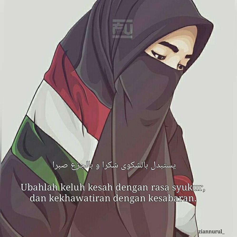 34 Kartun Muslimah Bercadar Memanah Gambar Kartun Hd