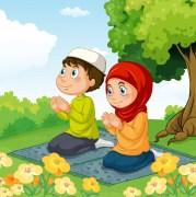 Kartun Muslimah Shalat Jama' dan Qashar, serta Jama' Qashar