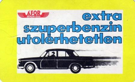 ÁFOR (extra szuperbenzin) - 1972