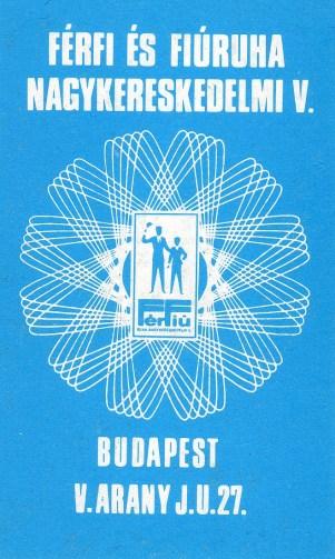 Férfi és Fiúruha Nagyker Vállalat - 1976