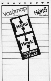 Hétfői Hírek (politikai hetilap) - 1984