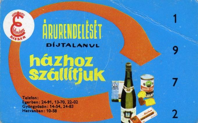 Heves Megyei Élelmiszer Kisker - 1972