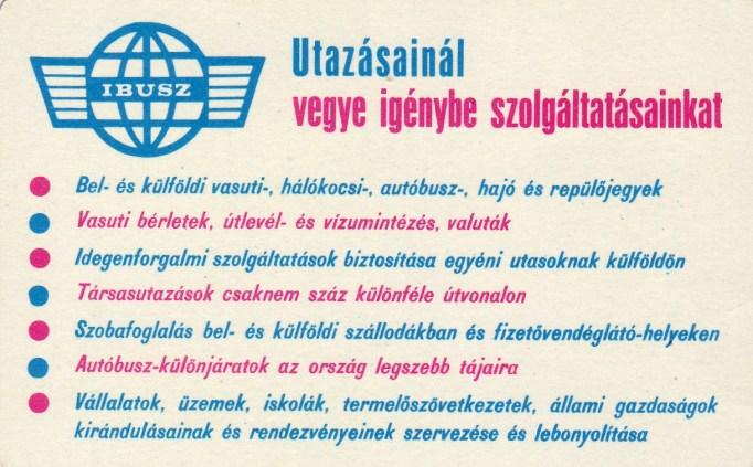 IBUSZ - 1968