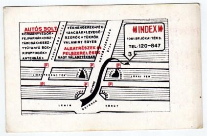 INDEX Autósbolt (Budapest) - 1981