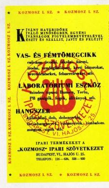 KOZMOSZ Ipari Szövetkezet - 1972