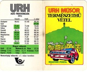 Magyar Posta - URH műsor (dupla) - 1982