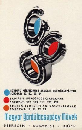Magyar Gördülőcsapágy Művek - 1970