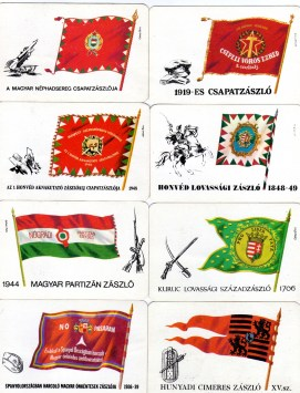 Magyar Néphadsereg - Történelmi zászlóink sorozat - 1976