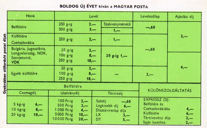 Magyar Posta (a) - 1972