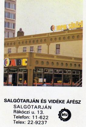 Salgótarján és vidéke ÁFÉSZ - 1986