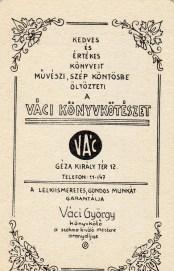 Váci Könyvkötészet - 1986