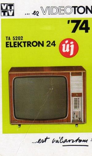 VIDEOTON - 1974
