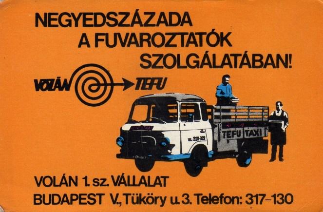 VOLÁN TEFU - 1974