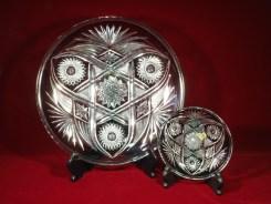 カットガラス皿