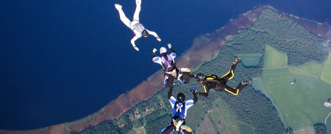 Skydiving 4 Ways formation