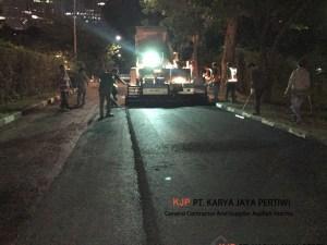 Pelapisan Aspal Hotmix di Hotel Sultan Jakarta