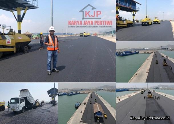 Pengaspalan Pelabuhan Bandar Bakau Jaya Serang, Jasa pengaspalan, kontraktor aspal hotmix