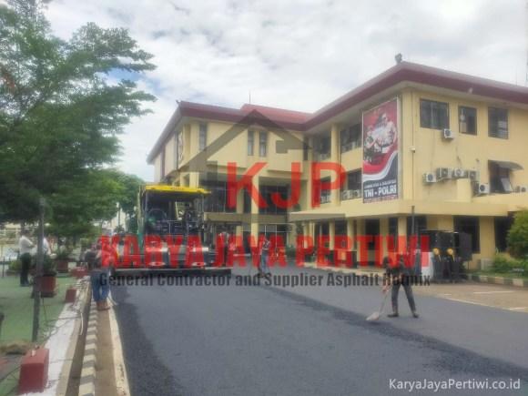 Pengaspalan Area Polda Bandung Jawa Barat, kontraktor aspal jalan bandung, kontraktor jalan jawa barat