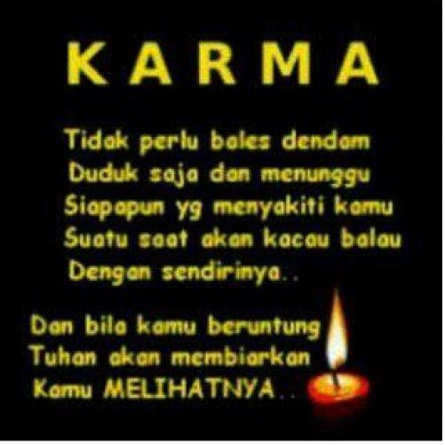 Kata Bijak Karma Pasti Ada Qwerty
