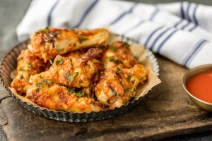 Simple Spiced Baked Chicken Wings by The Cookie Rookie