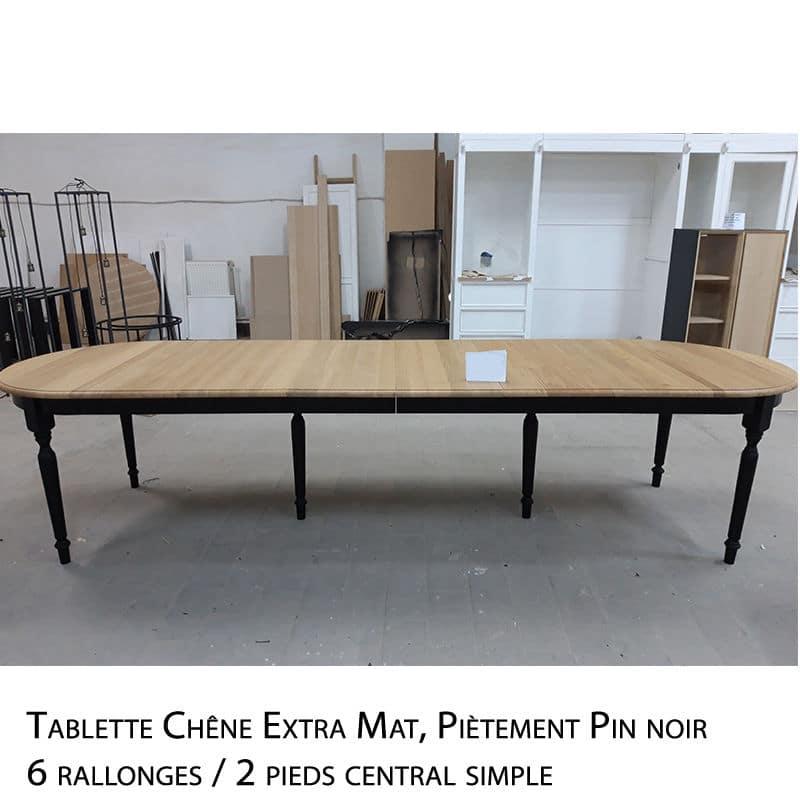 newrio table ovale bois sur mesure avec
