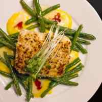 Kasai's Yukon Potato Crusted Chilean Sea Bass