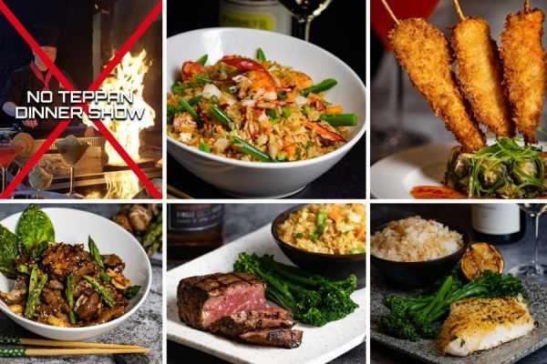 No Teppan Dinner Show Table Options