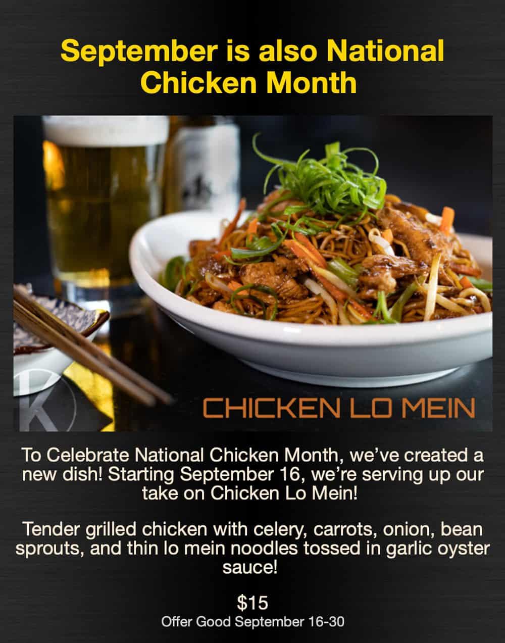 National Chicken Month @ Kasai