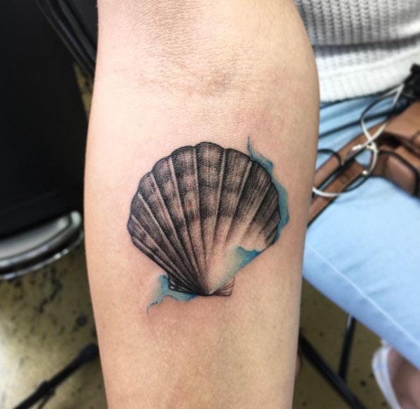 Tatuaże z motywem muszli