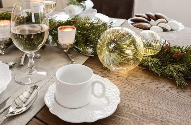 Nakrycie stołu świątecznego