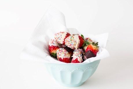 Erdbeeren in Schokolade