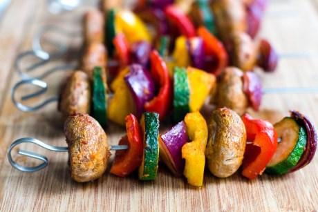 Gemüse Schaschlik vegetarisch