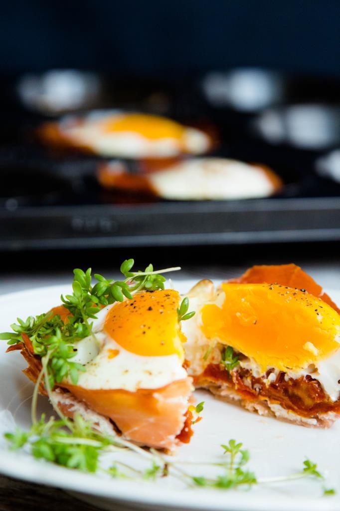Eier Muffins mit Schinken
