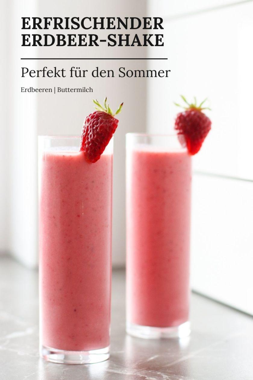 Erdbeer Shake selber machen Rezept