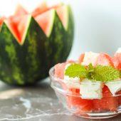 Wassermelone Feta Salat