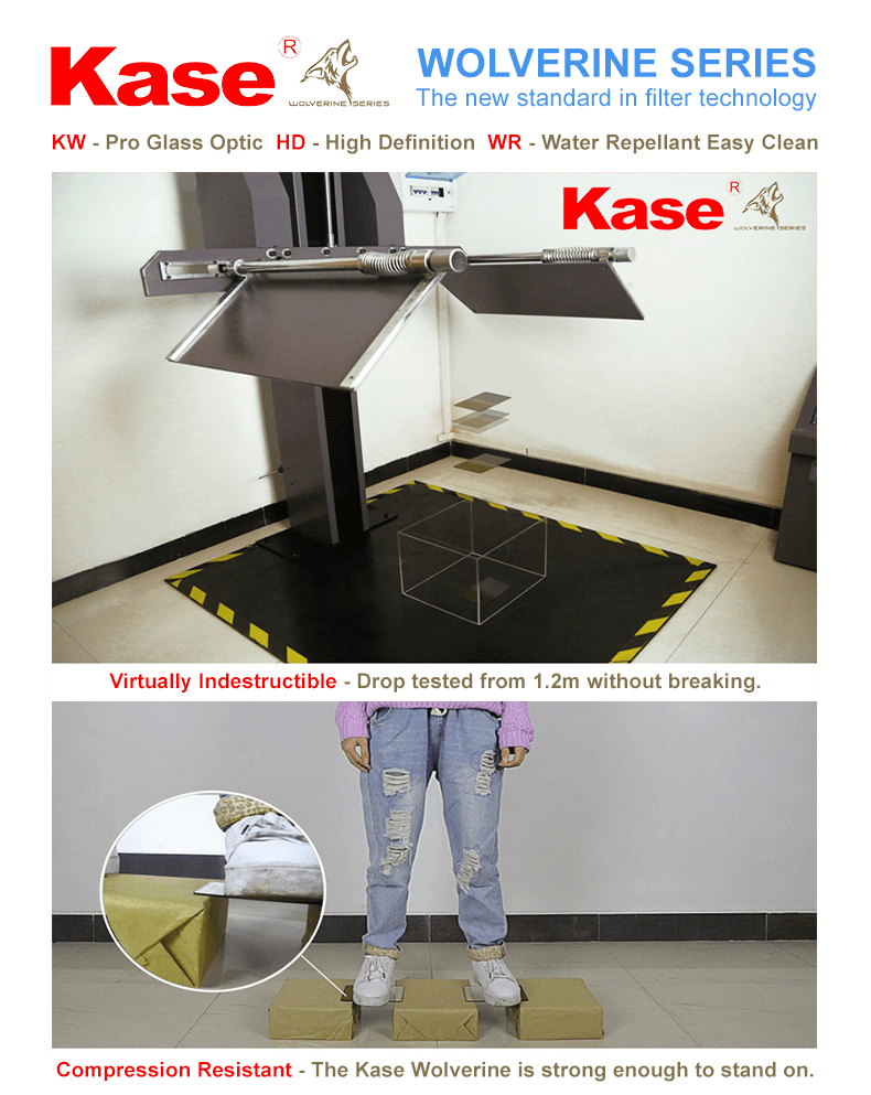 Virtually Indestructible - Drop tested from 1.2m without breaking. Compression Resistant - The Kase Wolverine is strong enough to stand on.