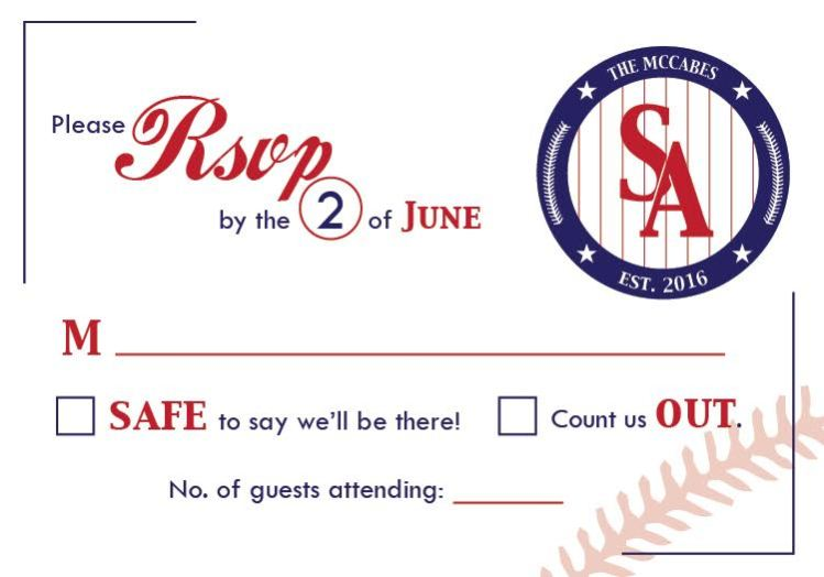 RSVP Card for Baseball Wedding