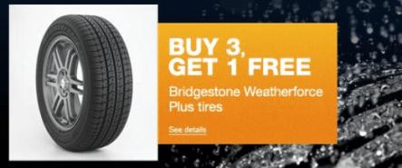 Buy 3 Get 1 Free Tires >> Hot Sears Buy 3 Get 1 Free Bridgestone Tires 50 Off 50